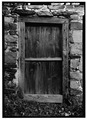 SOUTH FRONT, BASEMENT DOOR - Thomas Mill, Crum Creek (Willistown Township), Whitehorse, Chester County, PA HABS PA,15-WHIHO.V,2-5.tif