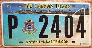 Vehicle registration plates of Sint Maarten Sint Maarten vehicle license plates