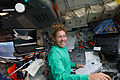 STS-135 Sandy Magnus on the flight deck.jpg