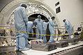STS-135 technicians install the cargo inside the Raffaello MPLM.jpg