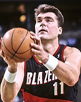 706609c851e After being drafted by the Trail Blazers several years prior, Arvydas  Sabonis made his NBA debut during the 1995–96 season.