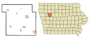 Sac County Iowa Incorporated and Unincorporated areas Auburn Highlighted.svg