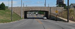 Saddle Creek x Dodge underpass from S 4.JPG