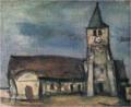 SaekiYūzō-1928-Church at Morin(Saint-Germain-sur-Morin).png