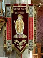 Saint-Malo-de-Phily (35) Église Intérieur Bannière de procession 01.jpg