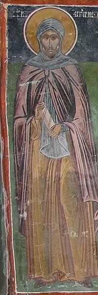 Saint Angelarius Fresco from Slivnitsa Monastery.jpg