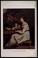 Saint Cecilia. Colour reproduction of mezzotint by W. Dickin Wellcome V0031863.jpg