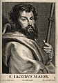 Saint James the Great. Line engraving by C. van Caukercken a Wellcome V0032219.jpg