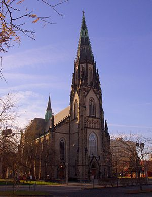 St. Joseph Oratory - Image: Saint Joseph Catholic Church (Detroit, MI) exterior, quarter view