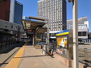 Metro Green Line (Minnesota) - Central Station of the Green Line in downtown Saint Paul