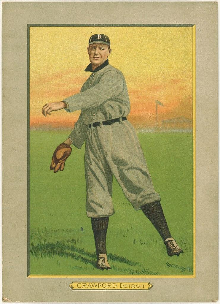 Sam Crawford, Detroit Tigers, baseball card portrait LCCN2007685676