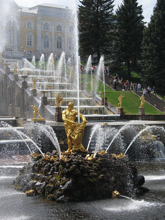 Samsonś Fountain, Russia