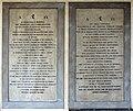San lorenzo, chiostro dei canonici, lapidi jacopo casanova ed elisabetta corsini.jpg