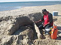 Sand Sculpture Art - മണൽ ശില്പകല 02.JPG