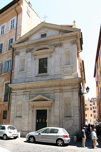 San Nicola dei Lorenesi - Façade of San Nicola dei Lorenesi, National Church in Rome of France (Duchy of Lorraine).