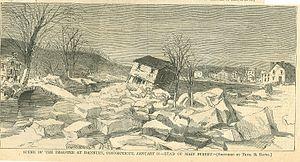 "Danbury, Connecticut - ""Scene of the Disaster at Danbury"", January 31, 1869"