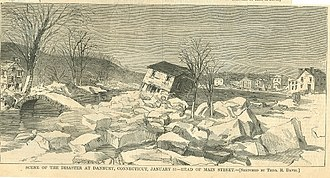 "Danbury, Connecticut - ""Scene of the Disaster at Danbury"", January 31, 1869"