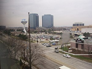 Schaumburg, Illinois - View of the area around Woodfield Mall, with the former headquarters of Zurich North America in the background.