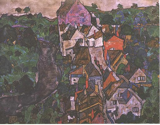 Schiele - Krumauer Landschaft - 1916