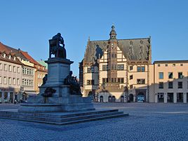 Market square with town hall