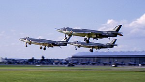 736 Naval Air Squadron - Scimitars of 736 Squadron at Farnborough, 1962