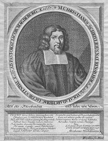Christian Scriver, zeitgenössischer Kupferstich (Quelle: Wikimedia)