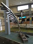 Sculpture of brolga by Mike Zalesky at Emerald Airport, Queensland.jpg