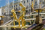 Sculptures on the Grand Cascade of Peterhof 01.jpg