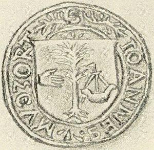 Birlinn - The seal of John Moidartach (from 1572).