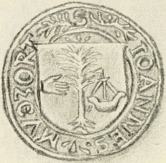 Clan Macdonald of Clanranald - The seal of John Moidartach (from 1572).