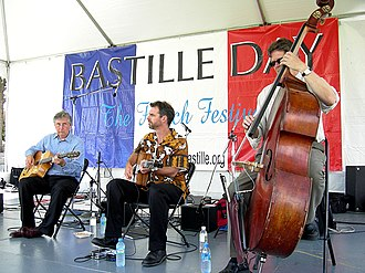 Gypsy jazz - Pearl Django appearing at a Bastille Day celebration