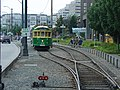 Seattle streetcar Passing track.jpg