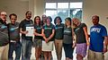 Second Chance School of Corfu with Wikipedia t-shirts 01.jpg