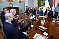 Secretary Kerry and His Team Discuss Gaza Cease-Fire With Egyptian Foreign Ministry Shoukry and His Counterparts (14530427550).jpg