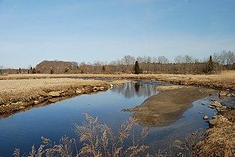 Segreganset River - View of Segreganset River at low tide, Dighton, Massachusetts