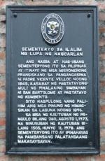 Sementeryo sa Ilalim ng Lupa ng Nagcarlan NHCP Historical Marker.png
