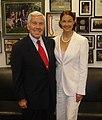 Senator Richard Lugar with Ashley Judd.jpg