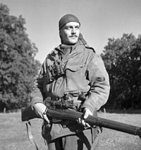 Sergeant H.A. Marshall of the Sniper Section, The Calgary Highlanders