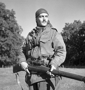 2nd Canadian Division - Sgt. Harold Marshall of the Calgary Highlanders' Sniper Platoon