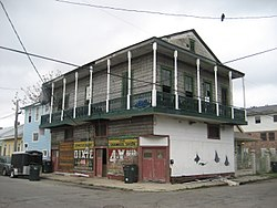Building formerly housing a neighborhood bar, Lower Garden District
