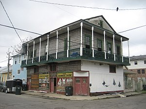Lower Garden District, New Orleans - Building formerly housing a neighborhood bar, Lower Garden District