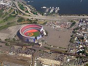 Shea Stadium from the air