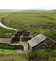 Sheepfolds and hut, Little Sled Dale - geograph.org.uk - 1400926.jpg