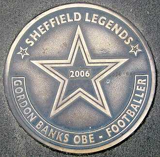 Gordon Banks - Sheffield Walk of Fame