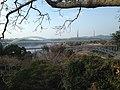 Shin-Saikaibashi Bridge and Saikaibashi Bridge from observation deck east of Saikaibashi Park in Saikai, Nagasaki.JPG