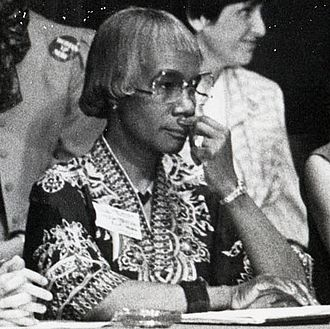 Shirley Chisholm - Chisholm at the 1984 Democratic National Convention