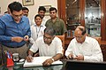 Shri Pradeep Kumar Sinha taking charge as Cabinet Secretary, in New Delhi on June 13, 2015.jpg