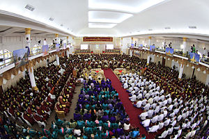 Buddhism in Myanmar - In February 2012, 1000 Buddhist monks and followers gathered for the 18th annual Shwegyin Nikaya Conference at the compound of Dhammaduta Zetawon Tawya Monastery in Hmawbi Township, Yangon Region.