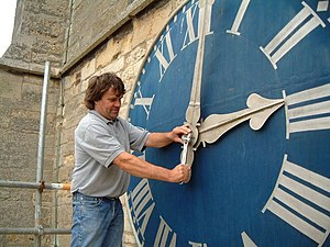 English: Sibsey Parish Clock Nick The local fa...