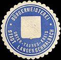 Siegelmarke Bürgermeisterei - Stadt Langenschwalbach - Unter - Taunus - Kreis W0216209.jpg